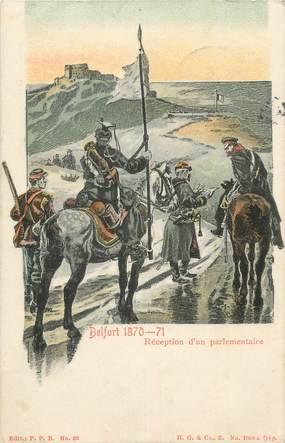 """CPA FRANCE 90 """" Belfort, Réception d'un parlementaire"""". / GUERRE DE 70"""