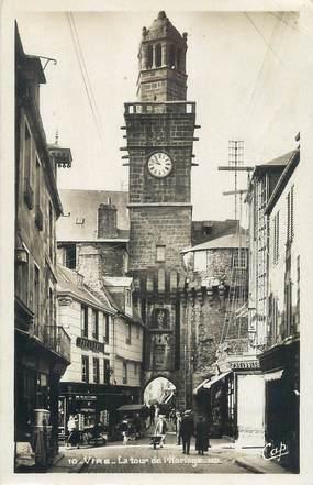 """CPSM FRANCE 14 """"Vire, La tour de l'Horloge""""."""