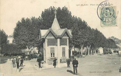"""CPA FRANCE 30 """" Alès, Place de la République""""."""