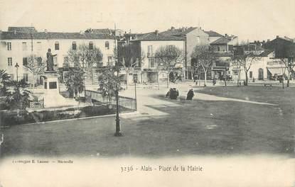 """CPA FRANCE 30 """" Alès, Place de la Mairie""""."""