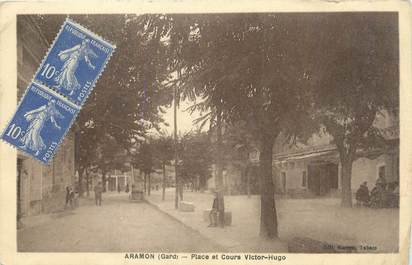 "CPA FRANCE 30 "" Aramon, Place et cours Victor Hugo""."