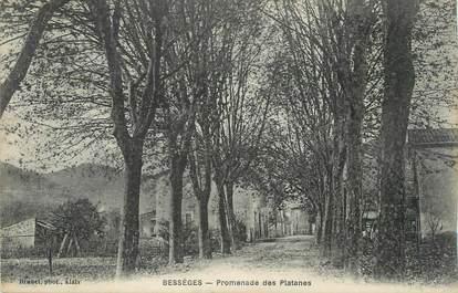 "CPA FRANCE 30 ""Bessèges, Promenade des platanes""."