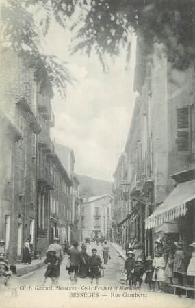 """CPA FRANCE 30 """"Bessèges, Rue Gambetta""""."""