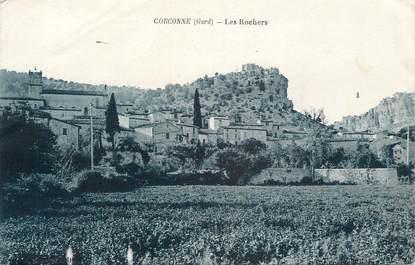 "CPA FRANCE 30 "" Corconne, Les rochers""."
