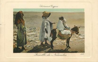 """CPA ALGERIE """"Famille de nomades"""" / ORIENTALISME / SCÈNES ET TYPES"""