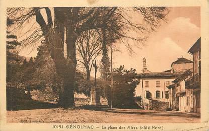 """CPA FRANCE 30 """" Génolhac, La place des aires""""."""