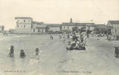"""CPA FRANCE 30 """" Le Grau du Roi, La plage""""."""
