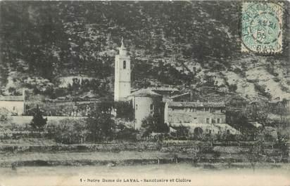 """CPA FRANCE 30 """" Notre Dame de Laval, Sanctuaire et cloître""""."""