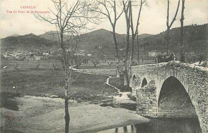 """CPA FRANCE 30 """"Lasalle, Vue du pont de la Baraquette""""."""