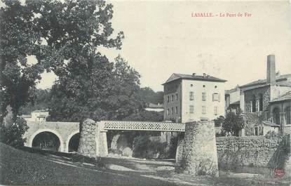 """CPA FRANCE 30 """" Lasalle, Le pont de fer""""."""