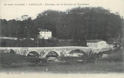 """CPA FRANCE 30 """" Lasalle, Le Château de St Bonnet et Castellas""""."""