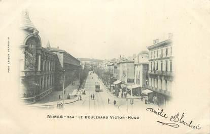 """CPA FRANCE 30 """"Nimes, Le Boulevard Victor Hugo""""."""