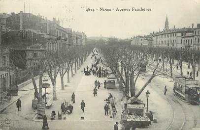 "CPA FRANCE 30 ""Nimes, Avenue Feuchères""."
