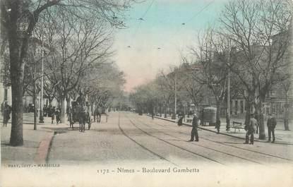 "CPA FRANCE 30 ""Nimes, Boulevard Gambetta""."