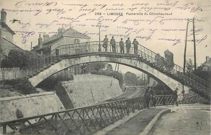 "CPA FRANCE 87 ""Limoges, Passerelle du Chinchauvaud""."