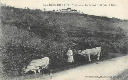 """CPA FRANCE 69 """"Les Echarmeaux, Le Mont Joli""""."""