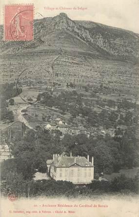 """CPA FRANCE 48 """" Salgas, Village et château """"."""