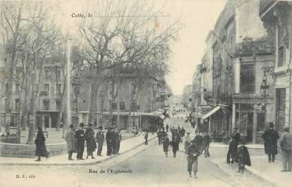 "CPA FRANCE 34 ""Sète, Rue de l'Esplanade""."