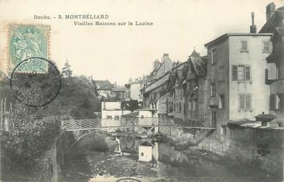 """CPA FRANCE 25 """" Montbéliard, Vieilles maisons sur la Luzine""""."""