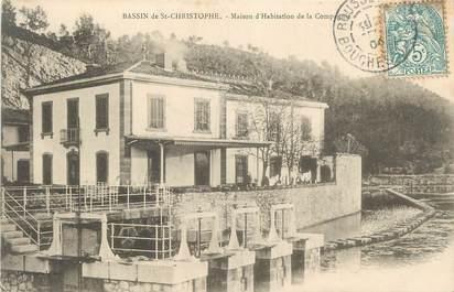 """CPA FRANCE 13 """" Bassin de St Christophe, Maison d'habitation de la Compagnie""""."""