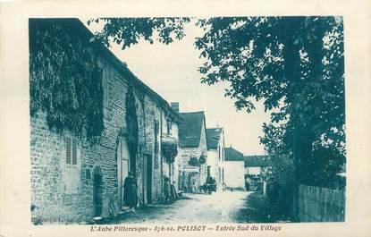 """CPA FRANCE 10 """" Polisot, Entrée sud du village""""."""
