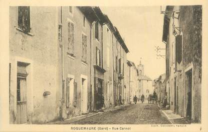 """CPA FRANCE 30 """" Roquemaure, Rue Carnot""""."""