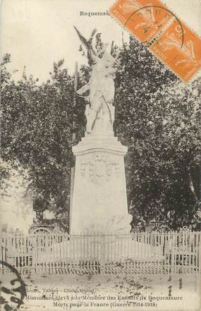 "CPA FRANCE 30 "" Roquemaure, Monument aux morts""."