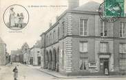 """72 Sarthe CPA FRANCE 72 """"Brulon, Place de la Mairie"""""""
