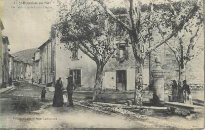 """CPA FRANCE 30 """" St Hippolyte du Fort, Le faubourg de la Croix Haute""""."""