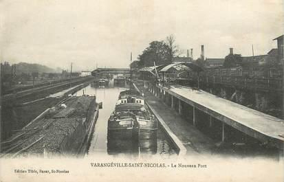 """CPA FRANCE 54 """"Varengéville Saint Nicolas, le Nouveau port"""" / PÉNICHE / BATELLERIE"""