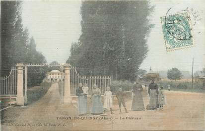 """CPA FRANCE 02 """"Tergnier Quessy, le chateau"""""""