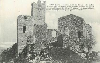 """CPA FRANCE 30 """" Tornac, Ancien château""""."""