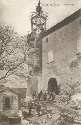 "CPA FRANCE 30 "" Valliguières, L'horloge""."