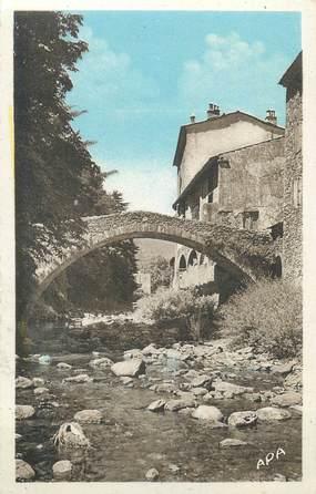 """CPA FRANCE 30 """" Valleraugue, Pont de la confrérie sur l'Hérault""""."""