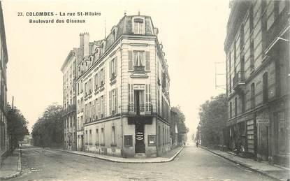 """CPA FRANCE 92 """"Colombes, la Rue Saint Hilaire, bld des Oiseaux"""""""