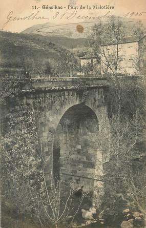 """CPA FRANCE 30 """" Génolhac, Pont de la Malotière""""."""