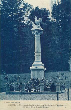 "CPA FRANCE 30 "" Anduze, Le monument aux morts""."
