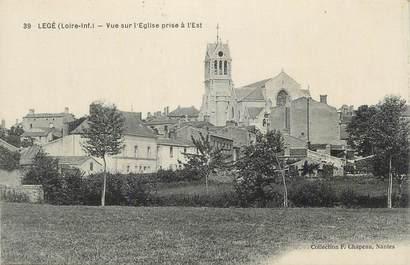 """CPA FRANCE 44 """" Legé, Vue sur l'église prise à l'est""""."""