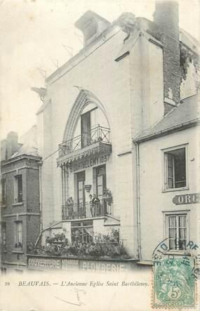 """CPA FRANCE 60 """" Beauvais, L'église St Barthélémy""""."""