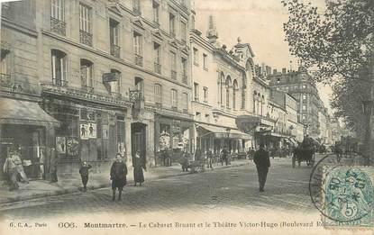 """CPA FRANCE 75 """"Paris 18ème, Montmartre, le Cabaret Bruant et le Théâtre Victor Hugo""""."""