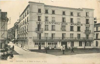"""CPA FRANCE 76 """" Dieppe, L'Hôtel de Paris""""."""