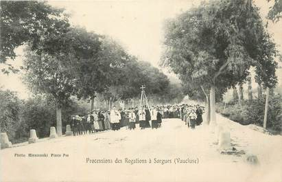"CPA FRANCE 84 ""Sorgues, Processions des Rogations""."