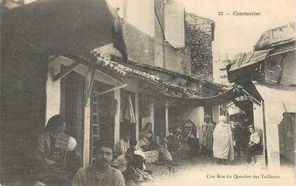 """CPA ALGERIE """"Constantine, une rue du quartier des Tailleurs"""""""
