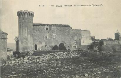 """CPA FRANCE 84 """"Viens, Vue extérieure du Château Fort""""."""