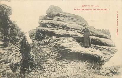 """CPA FRANCE 88 """"Etival, La Pierre d'Appel""""."""