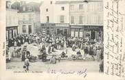 """89 Yonne CPA FRANCE 89 """" Chablis, Le marché""""."""
