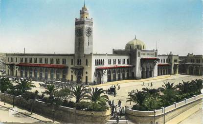 """CPSM ALGERIE """"Oran, la gare"""""""