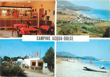 "CPSM FRANCE 20 ""Corse, St Florent, Camping caravaning Acqua Dolce""."