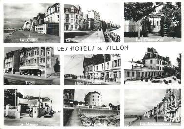 """CPSM FRANCE 35 """" St Malo Paramé, Les hôtels du Sillon""""."""