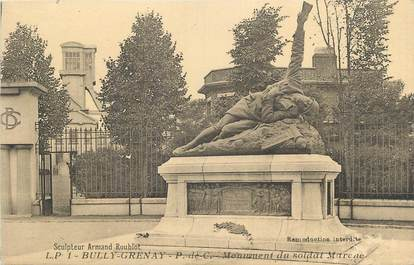 "CPA FRANCE 62 ""Bully Grenay, Monument aux morts""."